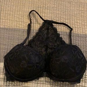 Halter Style, Front Closure Lacy Bra